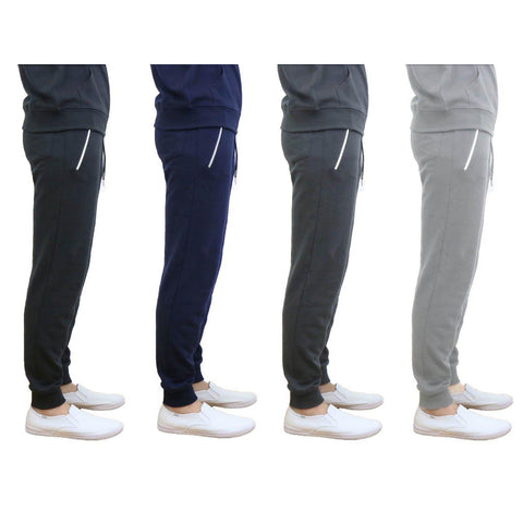 update alt-text with template Daily Steals-Men's French Terry Joggers with Zipper Pockets-Men's Apparel-Black-Small-