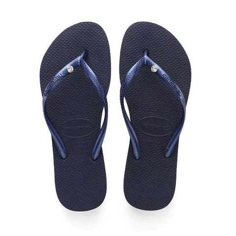 update alt-text with template Daily Steals-Havaianas Slim Crystal Glamour Sw Navy Blue Rubber Sandal - 10 Womens / 9 Mens-Accessories-