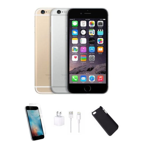 Daily Steals-iPhone 6 Bundle - Phone, Case, Screen Protector, Charger - Verizon & GSM Unlocked-Cellphones-Space Gray-16GB-