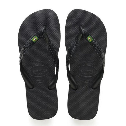 Daily Steals-Havaianas Brazil Black Rubber Sandal-Accessories-11 Womens/ 9 Mens-