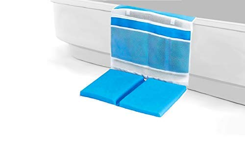 Daily Steals-Anti Skid Detachable Baby Bath Kneeler with Large Organizers-Toddlers and Babies-