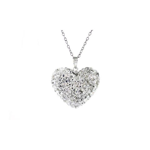Daily Steals-Sterling Silver Bubble Heart Pendant made with Swarovski Elements Crystals-Jewelry-