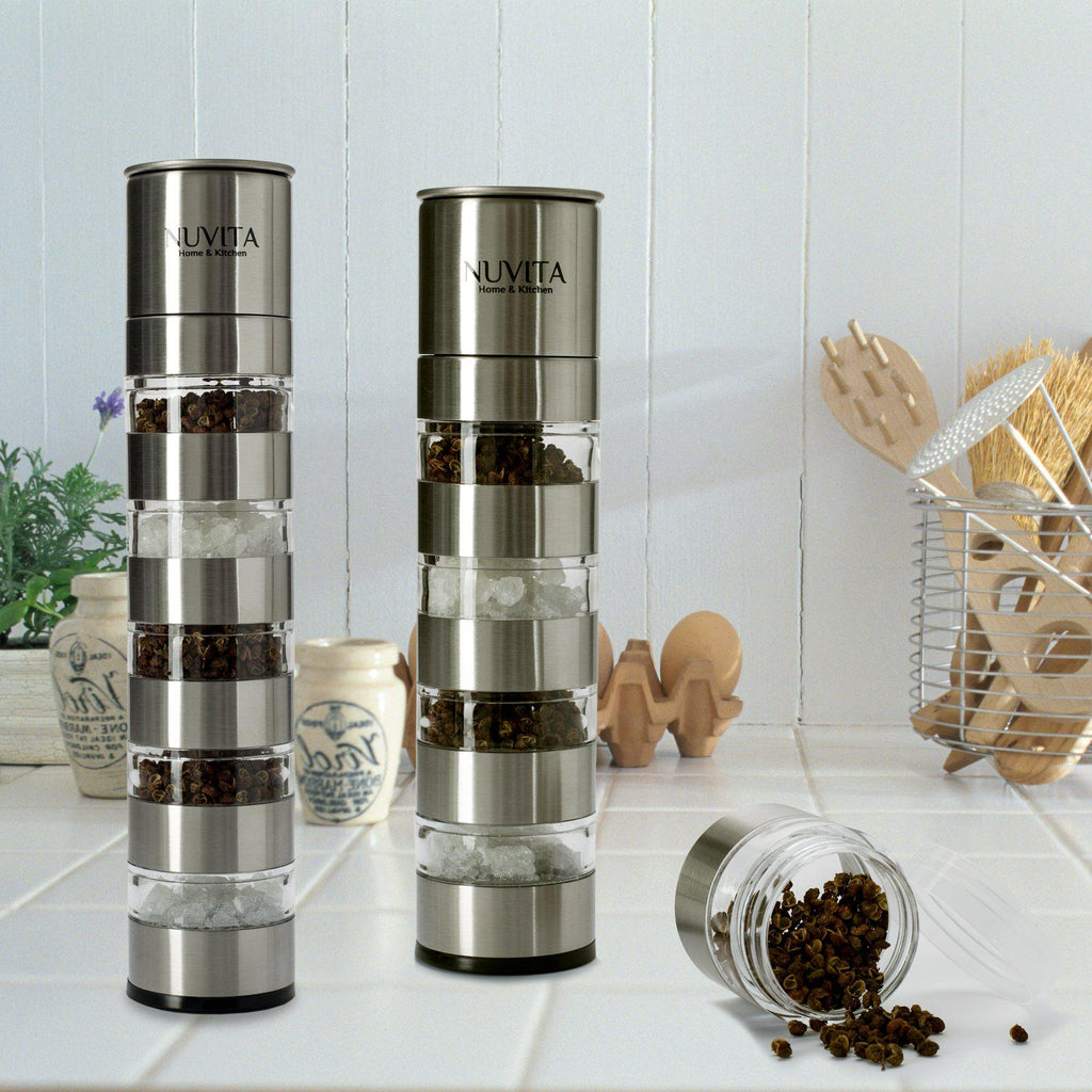 update alt-text with template Daily Steals-Nuvita Premium Stainless Steel Stackable Mini Salt and Pepper Grinder-Home and Office Essentials-