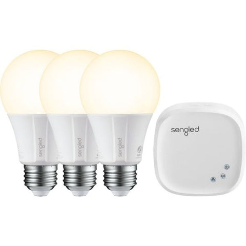 Daily Steals-Sengled Smart LED A19 Starter Kit - White Only - 3 Pack-Home and Office Essentials-