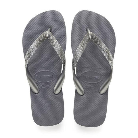Daily Steals-Havaianas Top Tiras Steel Gray Rubber Sandal - 7 Womens / 6 Mens-Accessories-