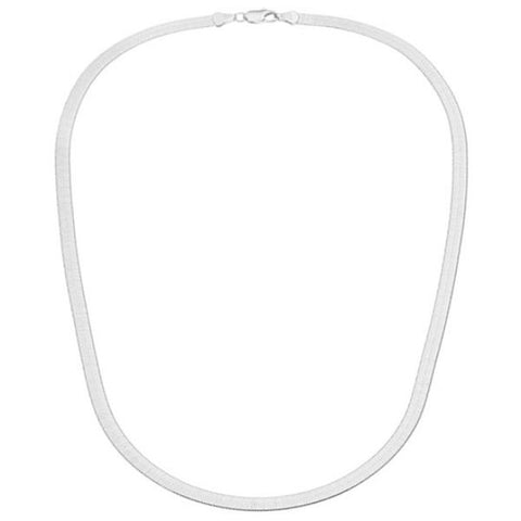update alt-text with template Daily Steals-Sterling Silver 4mm Italian Herringbone Necklace-Jewelry-