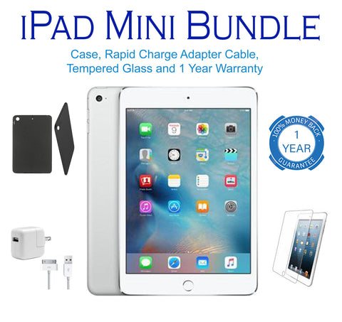Daily Steals-Apple iPad Mini, 1st Generation, WiFi Tablet, FREE Bundle - Black or White-Tablets-White-16GB-