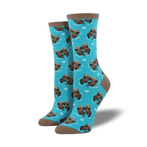 Bright Blue Otter Socks - Cute Dose
