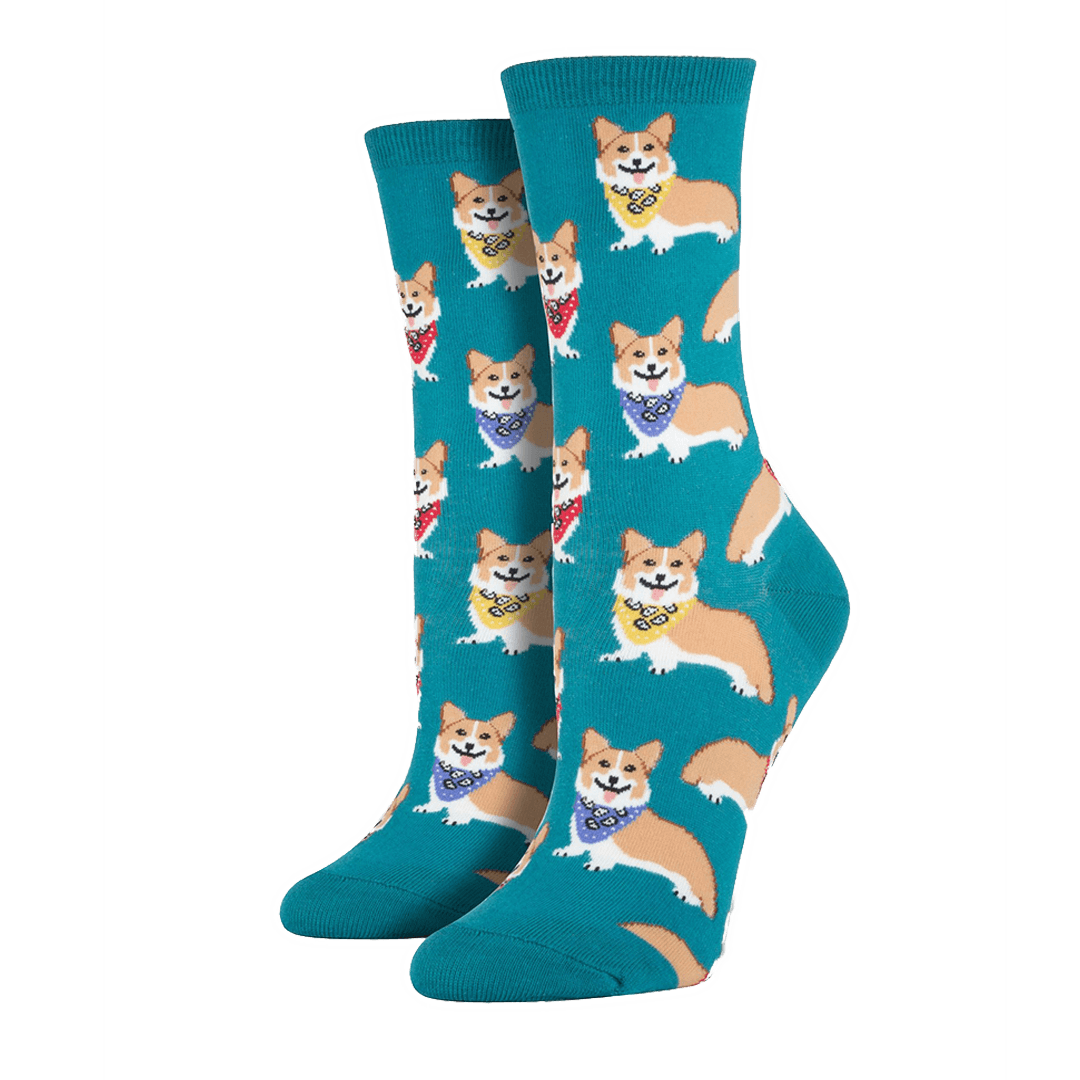 Emerald Corgi Socks - Women's - Cute Dose
