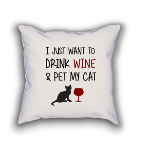 Wino Cat Pillow - Cute Dose