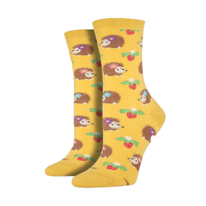 Gold Hedgehog Socks - Cute Dose