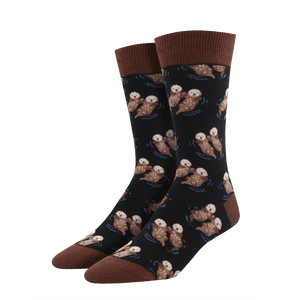 Men's Significant Otter Socks - Black - Cute Dose