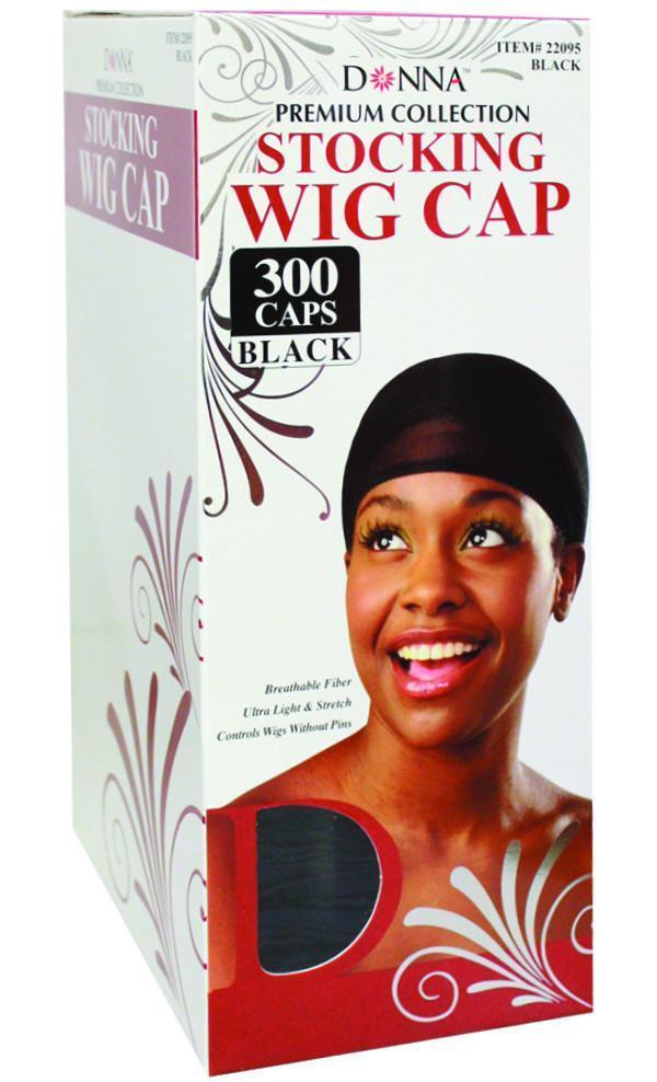 #22095  (300Pc) Stocking Wig Cap / Black