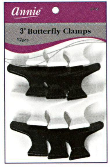 #3181 Annie Butterfly Clips 12Pc (12Pk)