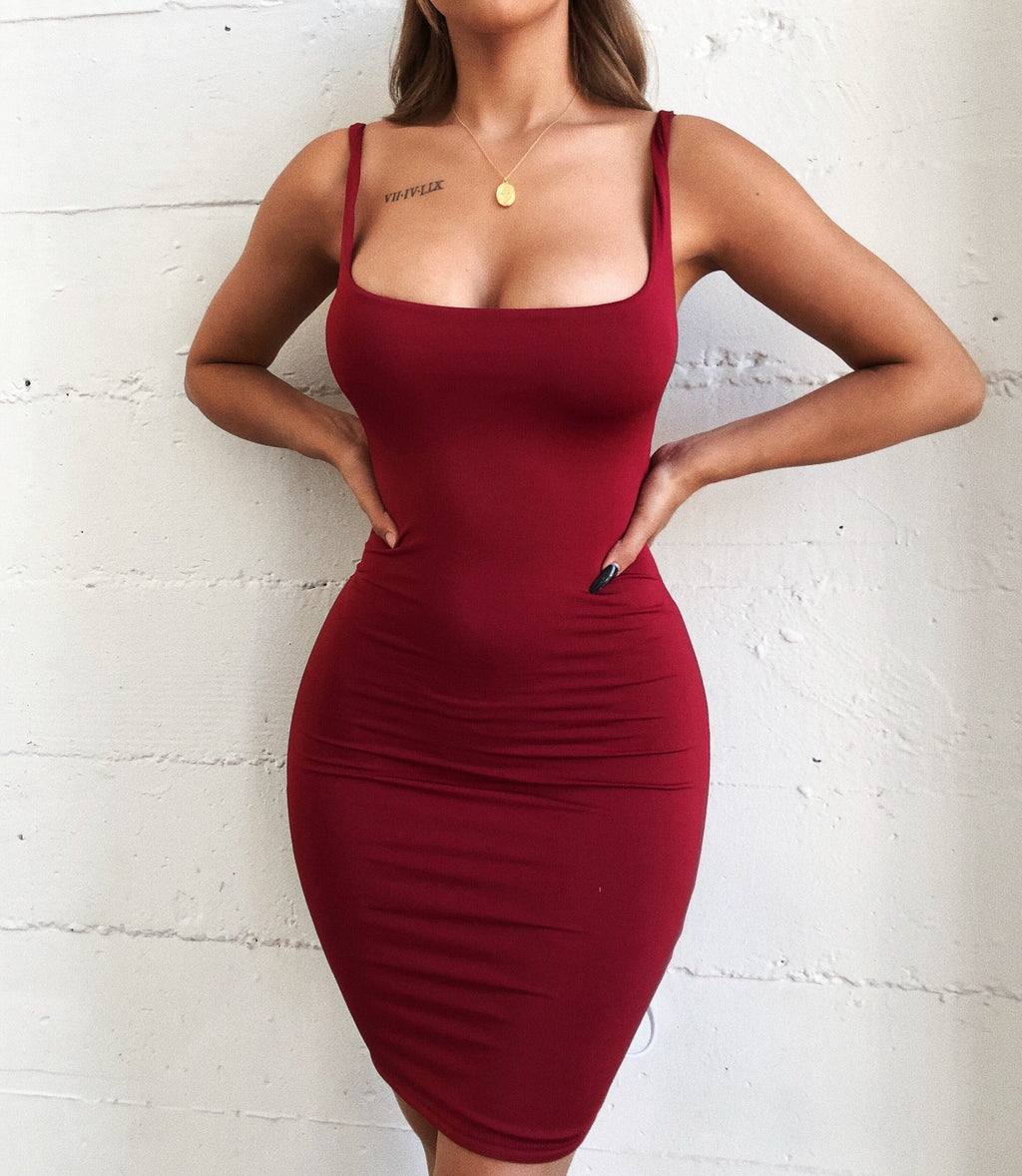 Ciara Tank Dress(Wine)