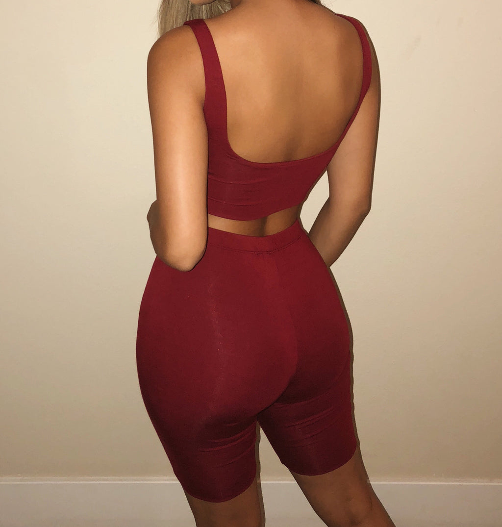 Camila Matching Set(Burgundy)