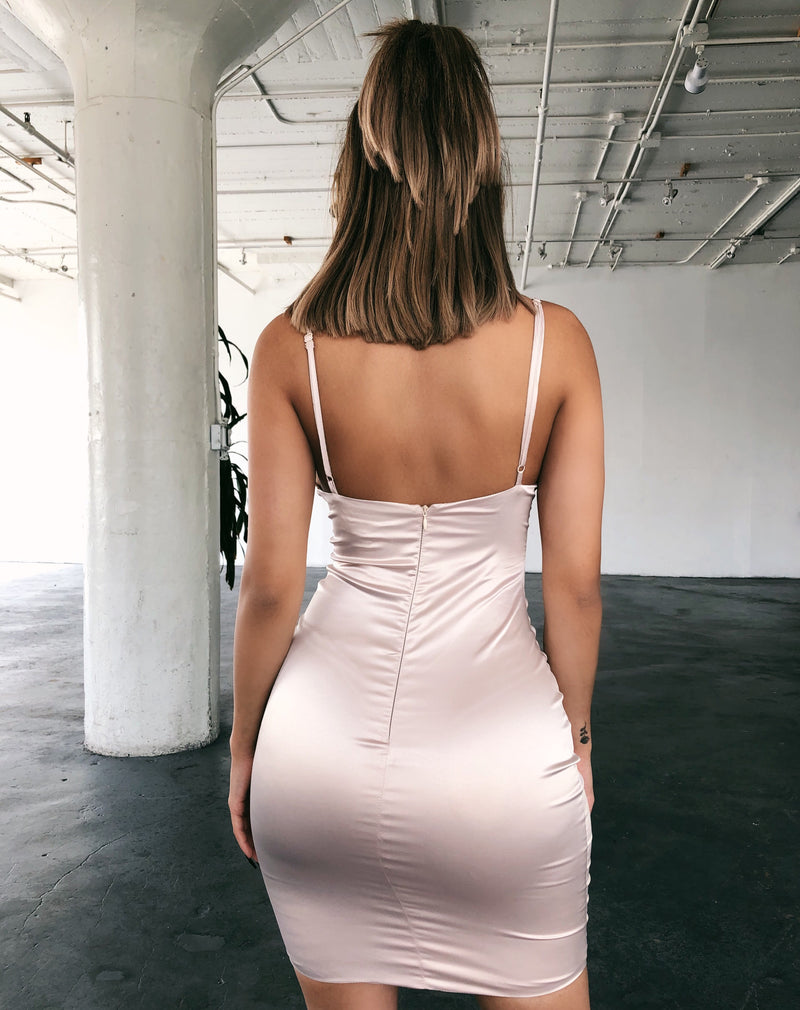 Dahlia Cami Satin Dress(Champagne/Blush)