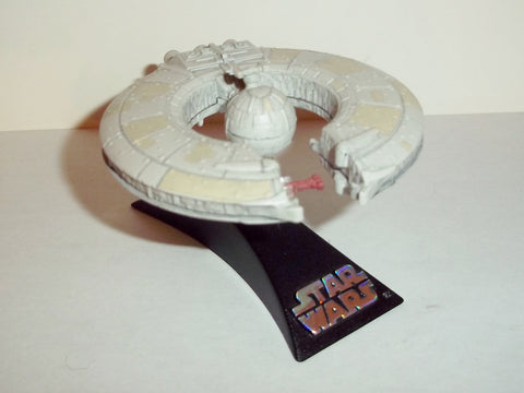 star wars titanium TRADE FEDERATION BATTLESHIP white droid control ship complete