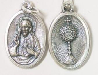 Blessed Sacrament  and Sacred Heart Medal
