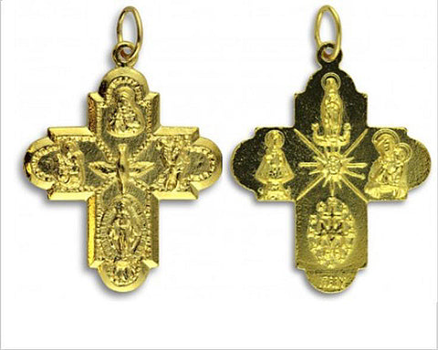 Catholic 5 way cross pendant, NZ shop