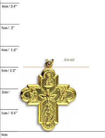 5-Way or 4-Way Catholic Cross Medal