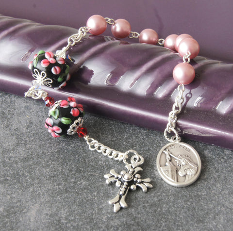 St Rita Healing Chaplet Prayer Beads, Impossible Cases Patron Saint