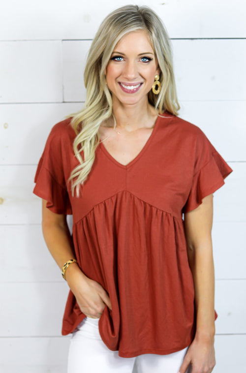 Sugar and Spice Bandeau Top in Red