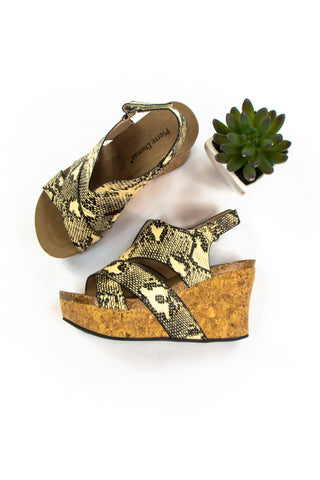 Slither Wedges in Snakeskin