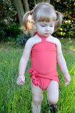 Girls Bathing Suit Dark Coral Wrap Around Swimsuit Toddler Swimsuit Girls Swimwear One Size Swimsuit - hisOpal Swimwear - 1