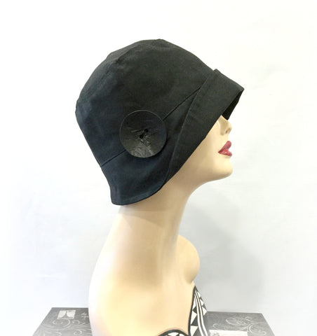 Rainy Day Cloche Hat in Waxed Cotton | The Eleanor