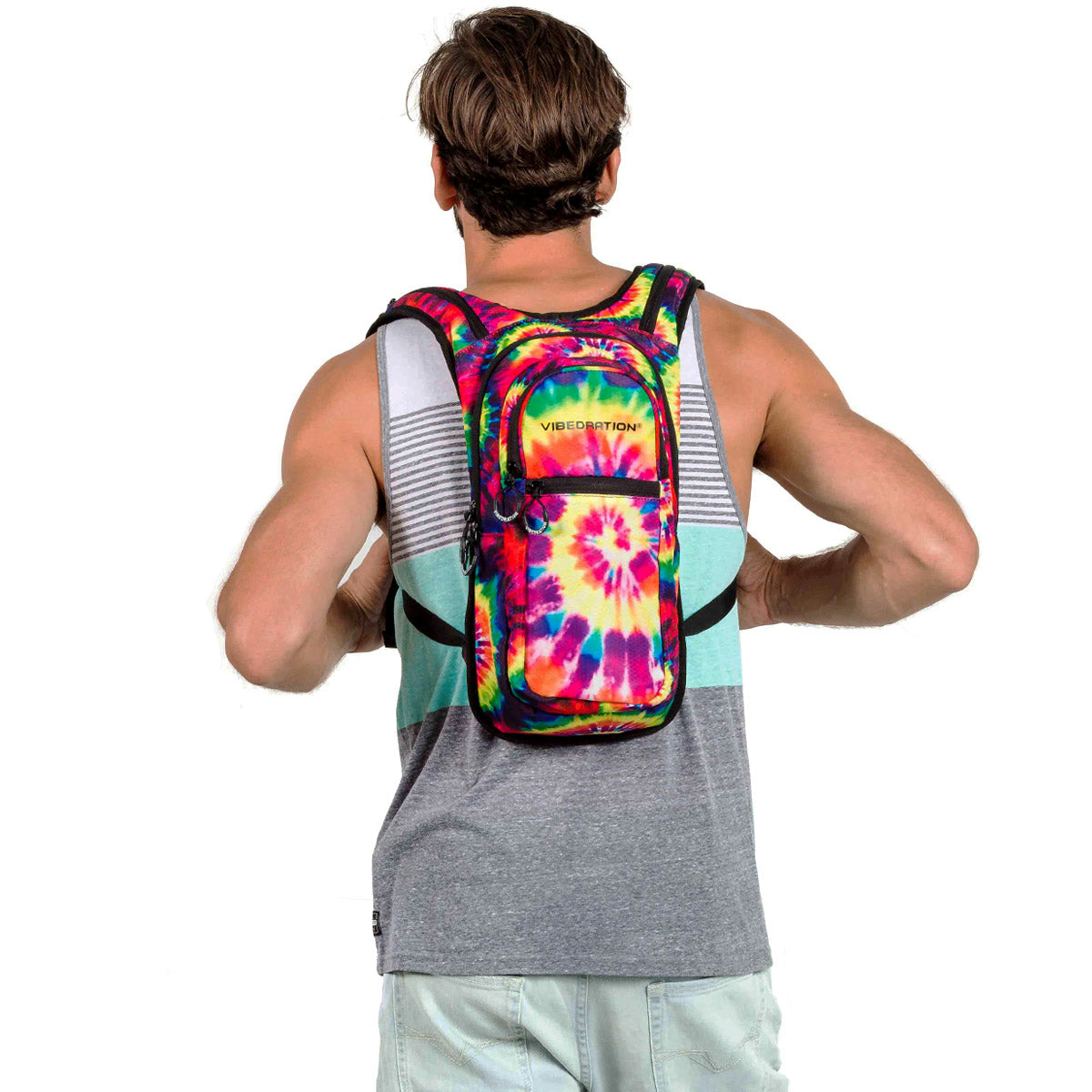 tie-dye hydration backpack for festivals