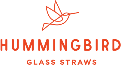 Hummingbird Glass Straws
