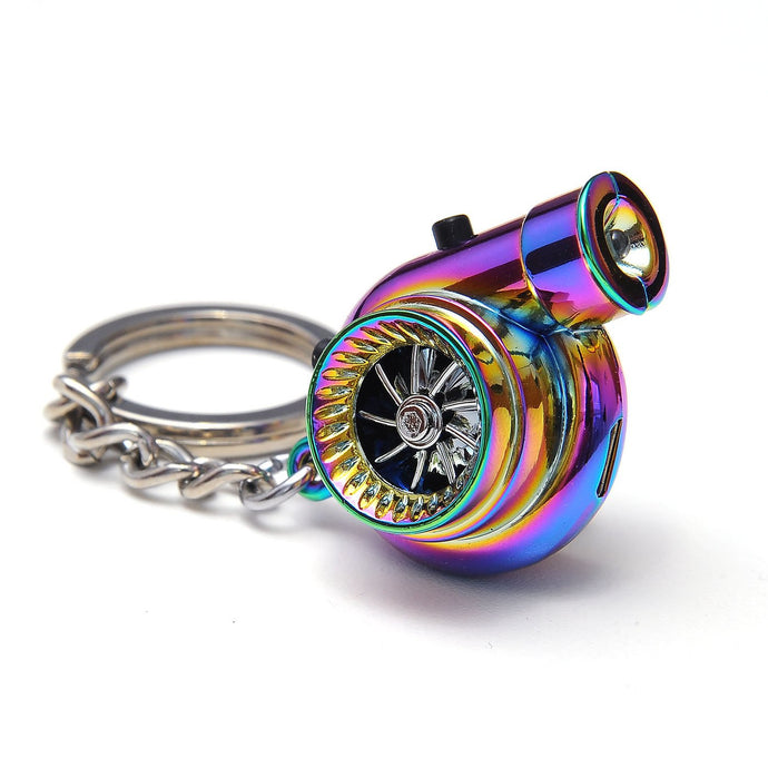 Boostnatics Rechargeable Electric Turbo LED Keychain (Neochrome)