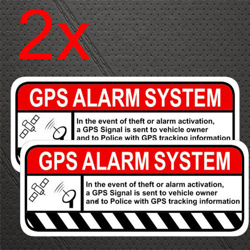 GPS Tracker Deterrent Warning Decal