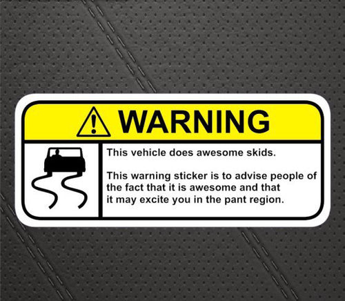 Skids Warning Decal