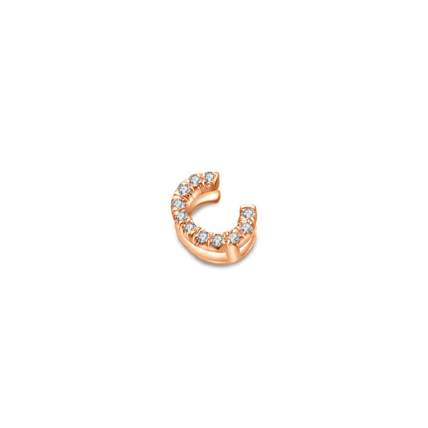 "18k Gold Initial Letter ""C"" Diamond Pandent - Genevieve Collection"