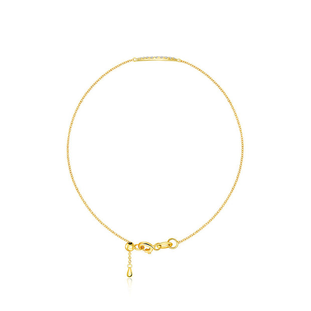 18k Gold Evil Eye Diamond Bracelet - Genevieve Collection