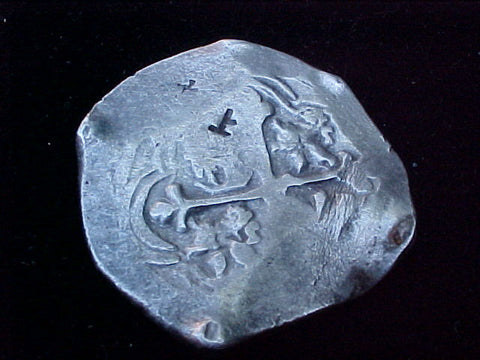 Spanish New World Silver 8 Reales COB, MEXICO, P, PHILIP IV, #1198 From The Shipwreck CONCEPCION 1641