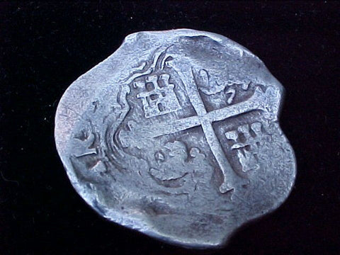 Spanish New World Silver 8 Reales COB, MEXICO, PHILIP IV , #1210 From The Shipwreck CONCEPCION 1641