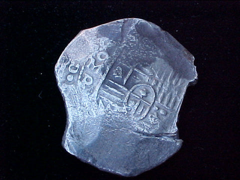 Spanish New World Silver 8 Reales COB, MEXICO, P, PHILIP IV, #1230 From The Shipwreck CONCEPCION 1641