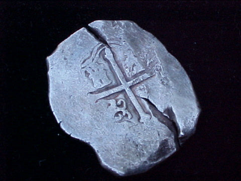 Spanish New World Silver 8 Reales COB, MEXICO, P, PHILIP IV, #1235 From The Shipwreck CONCEPCION 1641