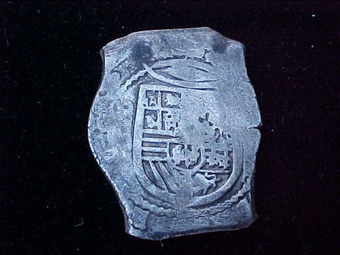 Spanish New World Silver 8 Reales COB, MEXICO, PHILIP IV, #1240 From The Shipwreck CONCEPCION 1641