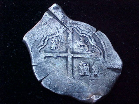 Spanish New World Silver 8 Reales COB, MEXICO, P, PHILIP IV, #1313 From The Shipwreck CONCEPCION 1641
