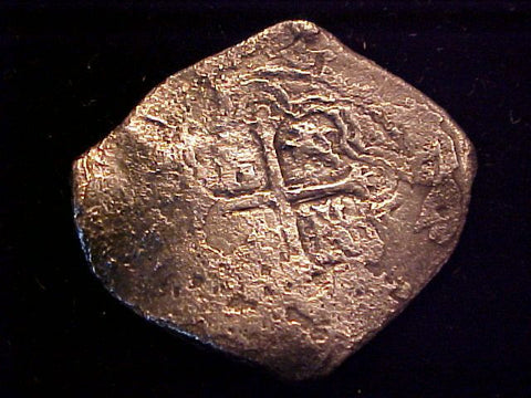 Spanish New World Silver 8 Reales COB, MEXICO, P, PHILIP IV, #1392 From The Shipwreck CONCEPCION 1641