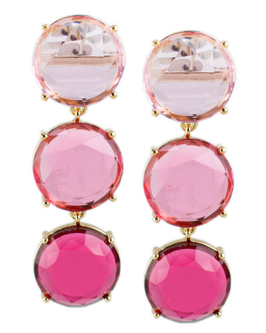 Pink Ombre Drop Earrings