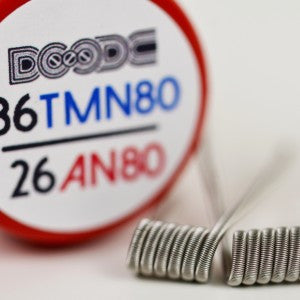 Fused Clapton Coils by Squidoode – 26AN80/36TMN80  (2)