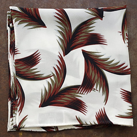Brown Frond Silk Pocket Square by Put This On