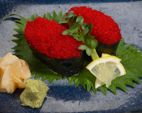 Frozen Sashimi Grade Red Flying Fish Eggs (Tobiko)