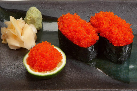 Frozen Sashimi Grade Orange Flying Fish Eggs (Tobiko)