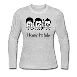 """Heavy Metals"" - Women's Long Sleeve T-Shirt gray / S - LabRatGifts - 2"